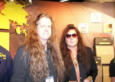 Met Yngwie Malmsteen which was very Cool