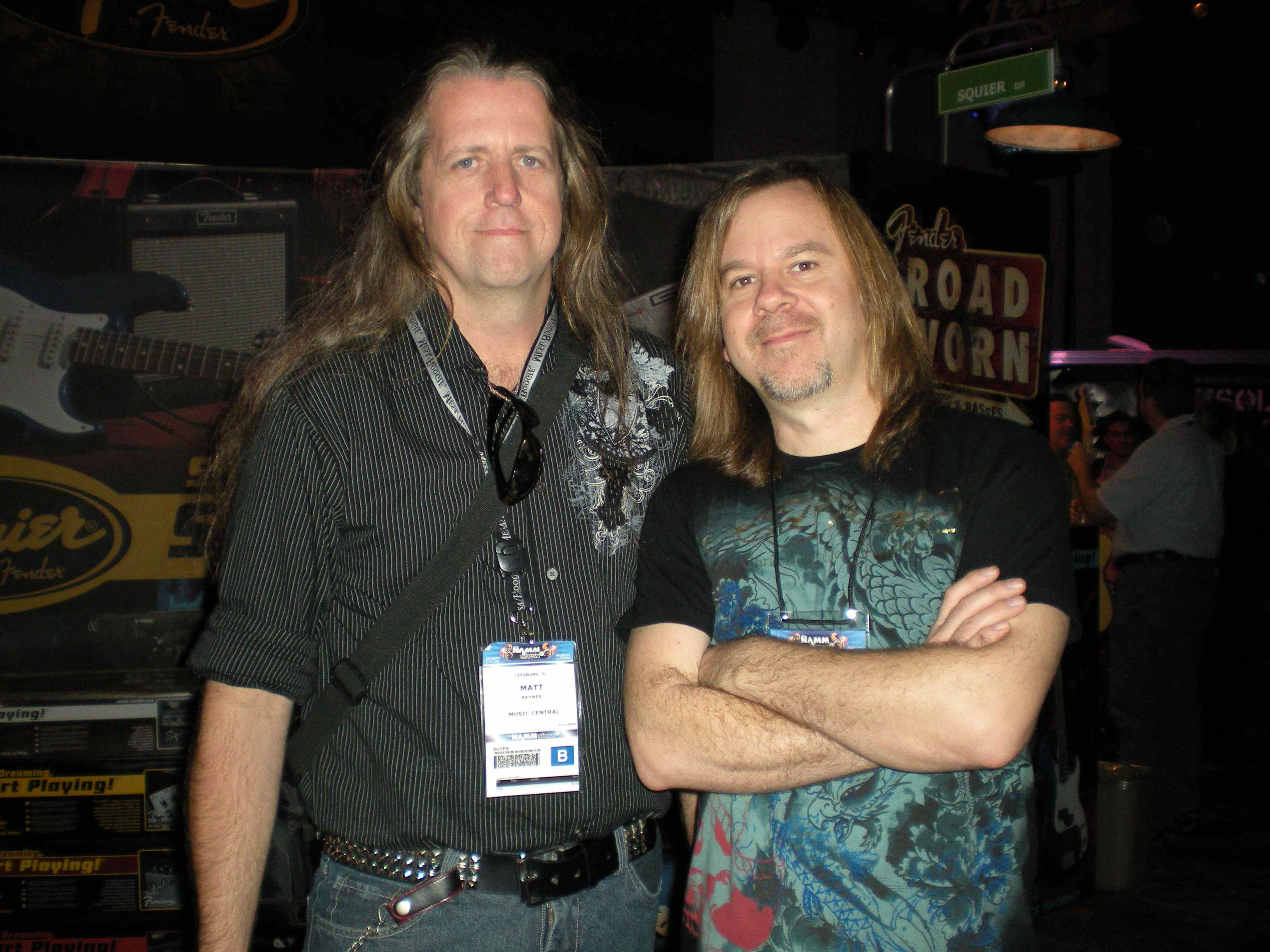 With Monte Montgomery at the Fender Booth in L.A.