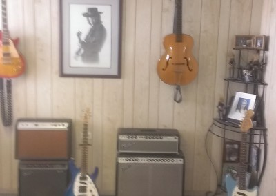 Part of my Teaching room with Some Vintage amps.